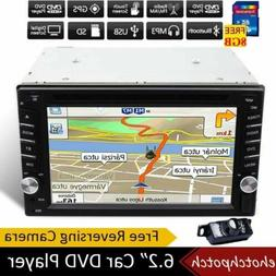 Car Radio Stereo GPS Navigation DVD Player Double 2Din 6.2""