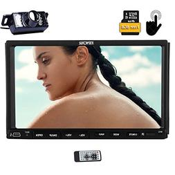 "Backup Rear Camera Included EinCar Double Din 7"" HD Car Radi"