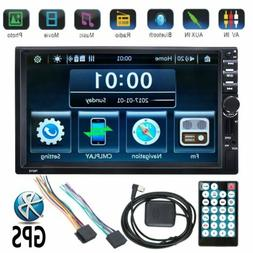 Bluetooth 7 inch HD Car 2 Din Car Stereo Audio Video GPS Nav