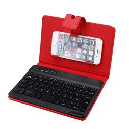 Bluetooth Detachable Keyboard +Leather Case Cover For 5-7Inc