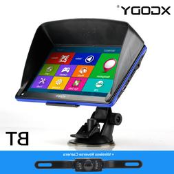 "Car 7"" GPS Navigation Bluetooth Sat Nav with Wireless Rear V"