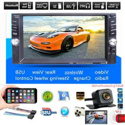 Car 6.6 Inch Touch Screen Stereo MP5 Player Bluetooth USB AU