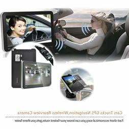 "Car Gps Navigation 7"" Inch W/ Truck Maps & Camera Wireless D"