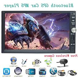 7 inch Car stereo with Bluetooth Touch Screen Doubel Din Hea
