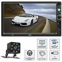 Car Stereo with Bluetooth 7 Inch Touch Screen Double Din Car
