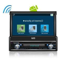 Pyle In-Dash Single-Din 7-inch Motorized Android Wireless Bl