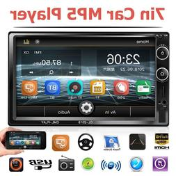 Double 2DIN 7 Inch Car Stereo MP5 Player FM Radio TF U Disk