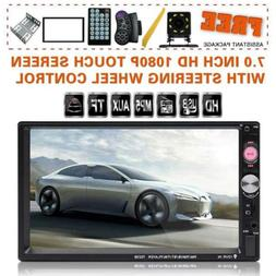 double din car stereo in dash bluetooth