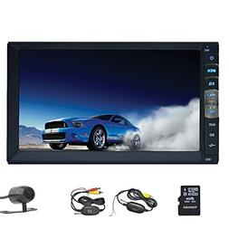 EinCar Double Din 7 Inch Touch Screen Car Stereo In Dash GPS