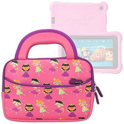 Evecase All-New Fire 7 Kids Edition Tablet Sleeve, Cute Prin