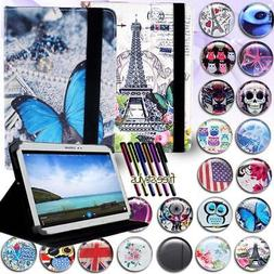 FOLIO LEATHER STAND CASE COVER For Various Samsung Galaxy Ta