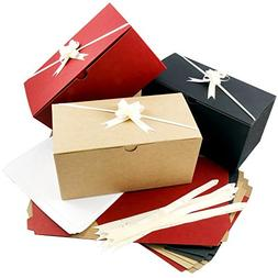 Colored Gift Boxes 9 x 4.5 x 4.5 inch Set of 10 including Pu
