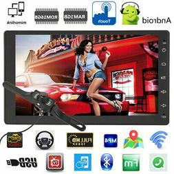 "GPS 7"" inch Double 2 DIN Car MP5 Player BT WIFI Touch Screen"