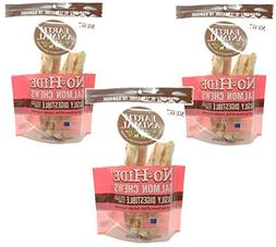 """Earth Animal No Hide Salmon Chews 7"""" 2 pack Free Shipping"""