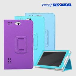 High Quality PU Leather Folding Stand Case Cover for <font><