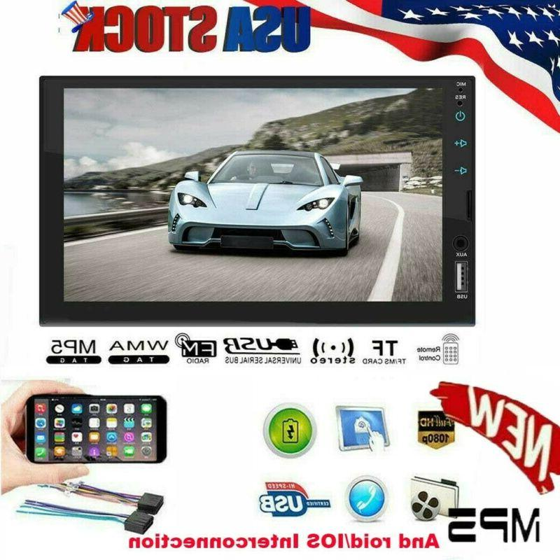 "2 7"" inch Double Car MP5 Bluetooth Touch Stereo Radio +"