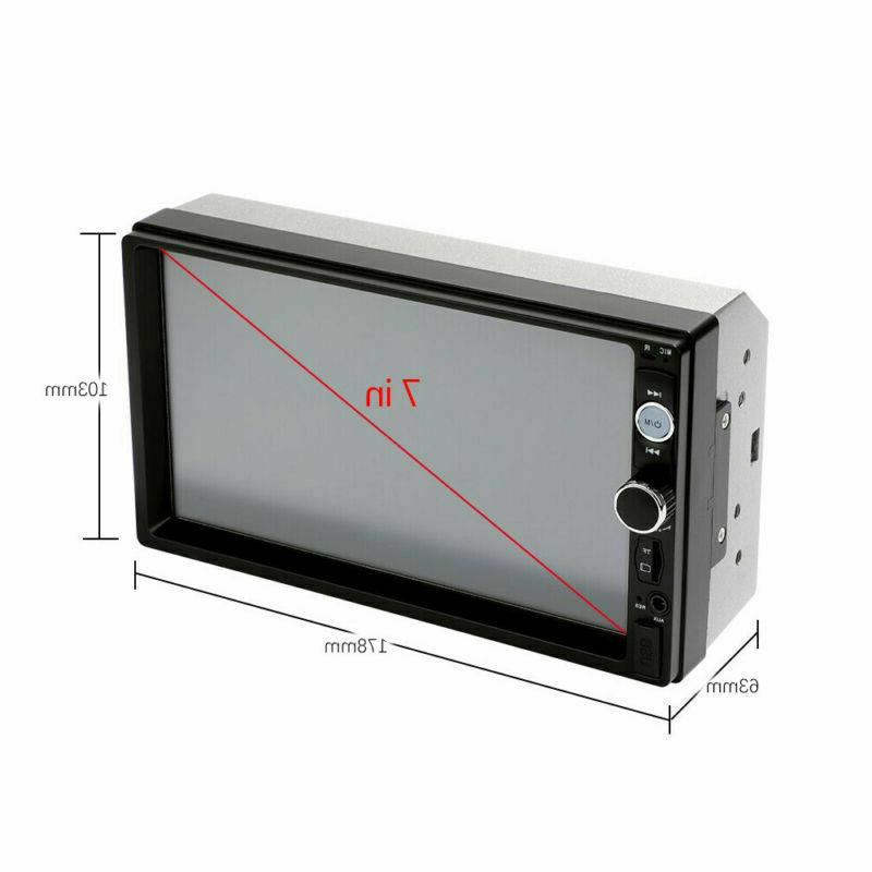 2DIN Player Radio Touch Screen Rear