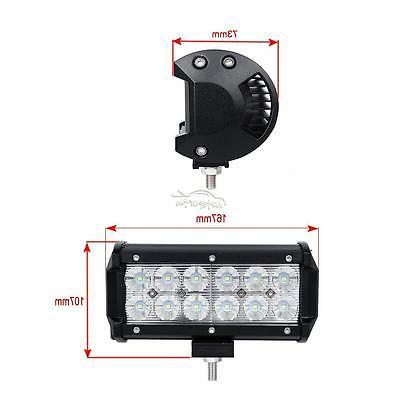 2x 7INCH LED WORK LIGHT SPOT OFFROAD TRUCK 6""