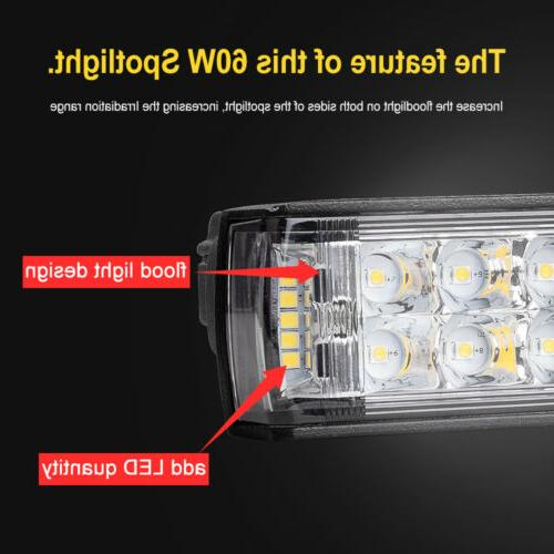2x LED WORK LIGHT BAR SPOT TRUCK 6""