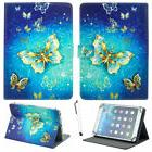 """For 7"""" -10.1"""" Tablets Gold Butterfly Universal Stand Leather"""