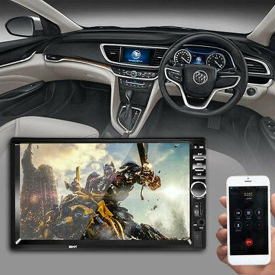 "7"" 2Din Touch Screen Car MP5 Player Bluetooth Stereo FM Radi"