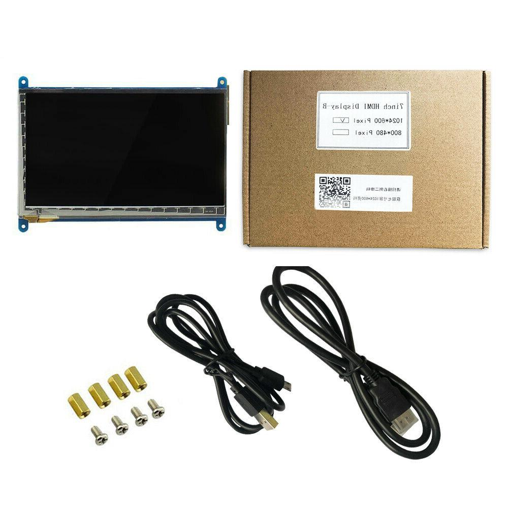 7 Inch Display Monitor 1024X600 touch Pi 3B/B+