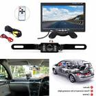 "7"" TFT LCD Car Monitor with Wired Backup Rear View Camera DC"