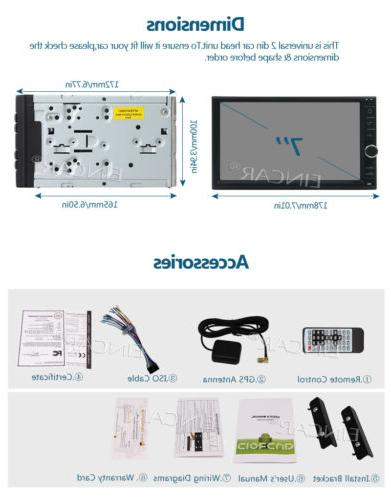 Eincar Android Double 2 Din Stereo 8Core RAM2GB Radio GPS