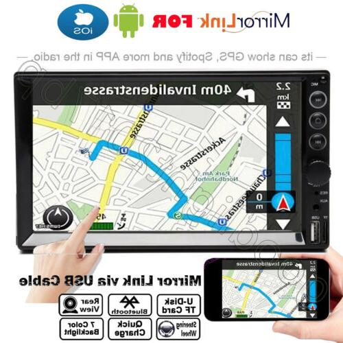 """7"""" DOUBLE MP5 Player Audio Radio Bluetooth Touch IN-Dash"""