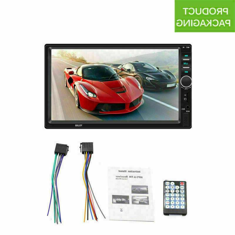 7 7018B 2 DIN Stereo MP5 Touch