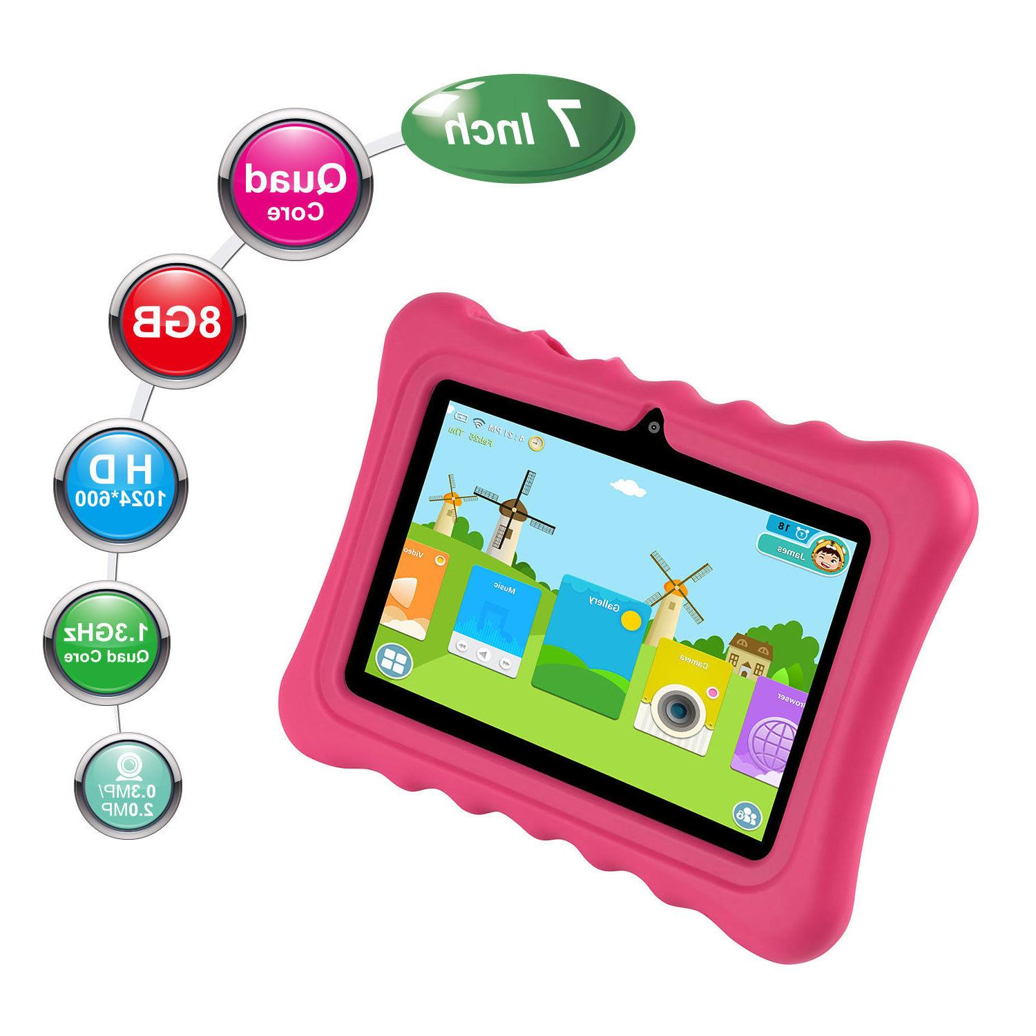 "7"" inch Tablet PC For Children Cameras 8GB"
