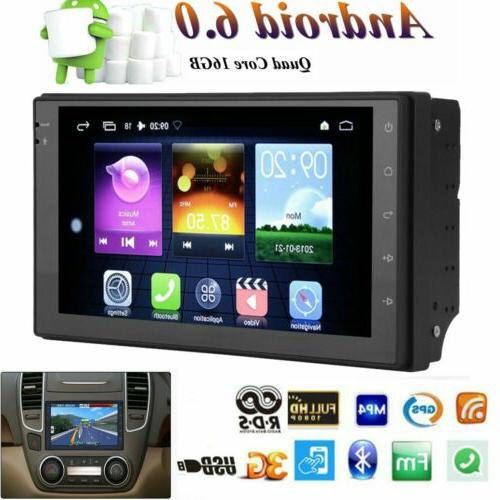 7'' Android Double 2DIN Car Radio Stereo Player Navigation