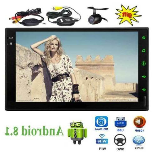 7 Inch Double Din Stereo Touchscreen Radio Backup