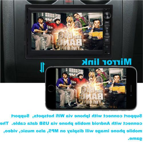 7inch Double Android Stereo No-DVD MP5 Player WIFI GPS CAMERA