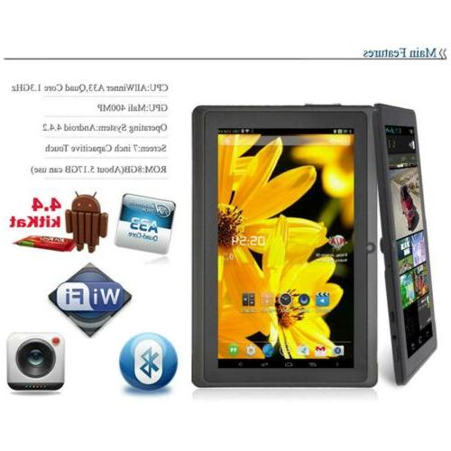 7 Inch Android Tablet 8GB Calculator Camera Alarm W6Z2S