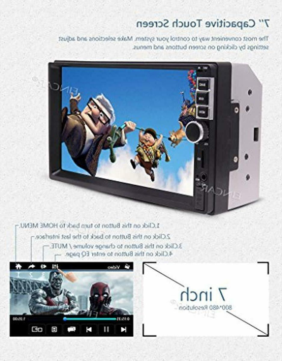 EINCAR Multi-Touch Screen MP5 Player Double 2 Din Stereo A