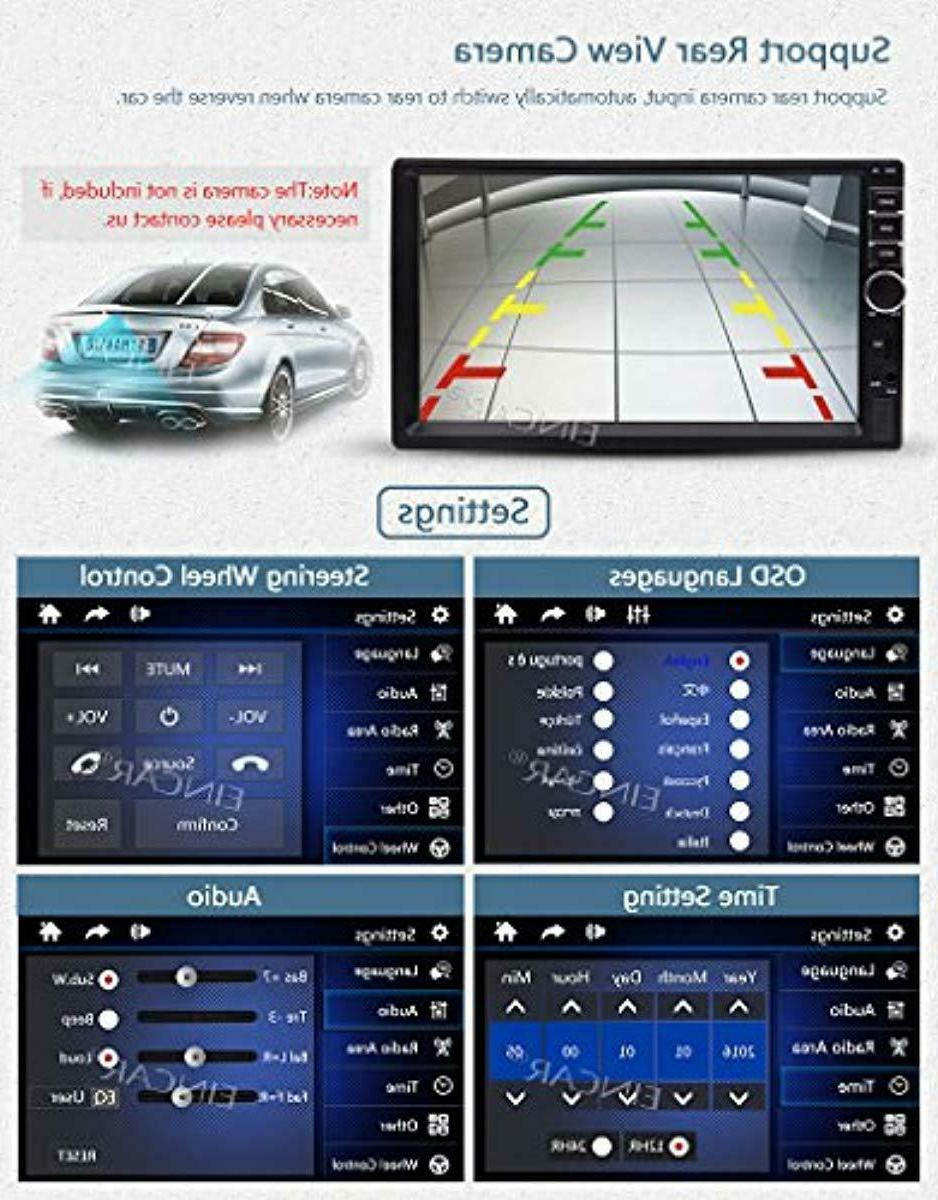 EINCAR 7 inch Multi-Touch Double Din Car Stereo