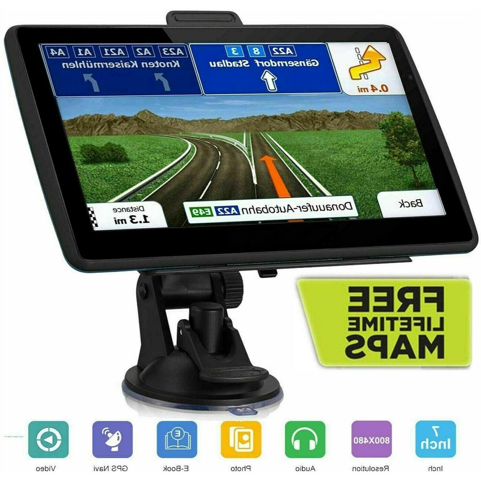 7 inch car and truck gps navigation
