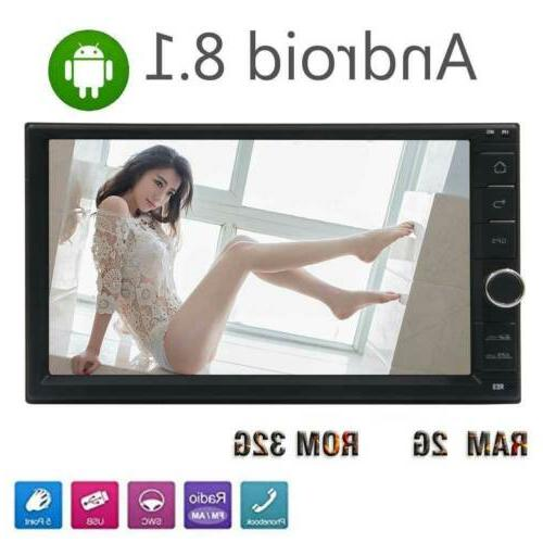 7 Inch Car Stereo Android 8.1 Din Quad-core GPS with WIFI/3G/4G