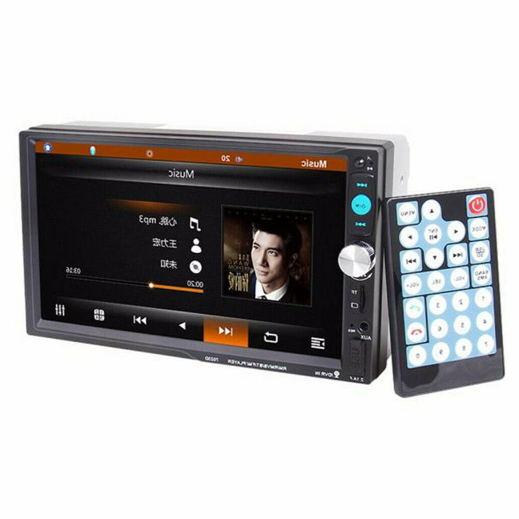 """7"""" Inch Car Stereo Radio HD Touch Screen Bluetooth 2din&Camera"""