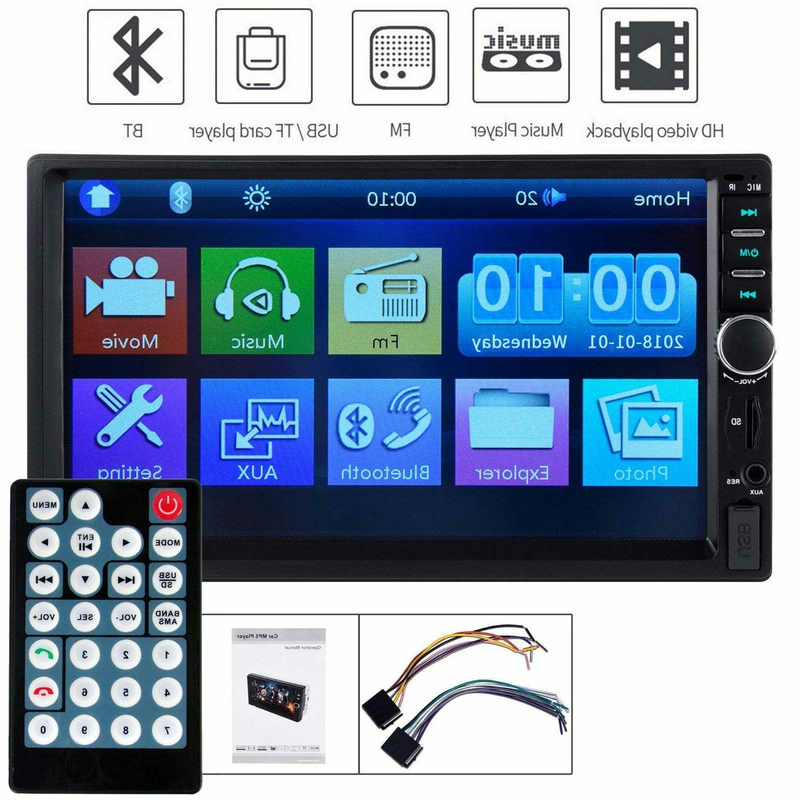 "7"" Car Radio HD Mp5 Player Touch 2din&Camera"