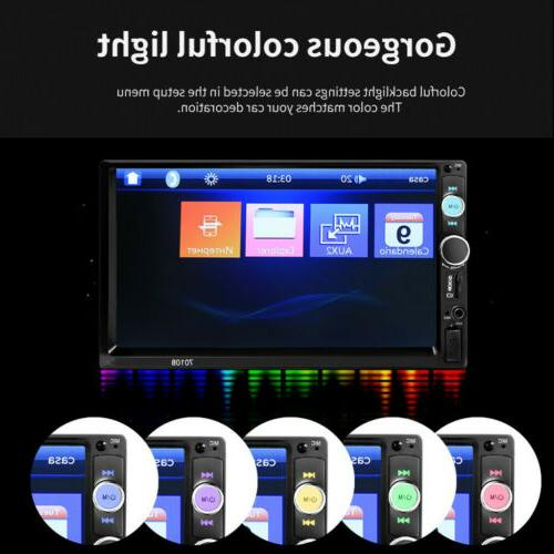"""7"""" Car Stereo Radio HD Touch Bluetooth 2Din&Camera"""