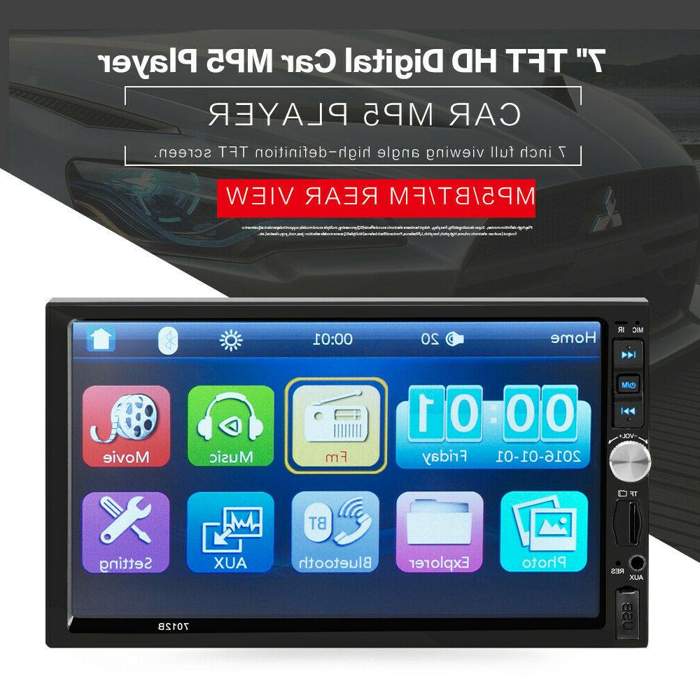 7 Inch 1080P 2DIN Car MP5 Player BT AUX USB TF Touch Screen