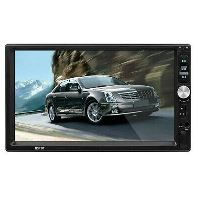 """7"""" Double DIN Bluetooth Touch Radio + Camera"""