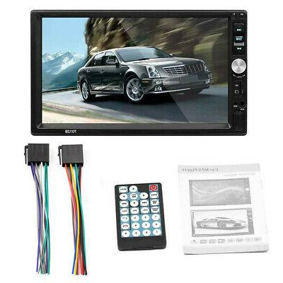 """7"""" Double DIN Car MP5 Player Bluetooth Stereo Radio Camera"""