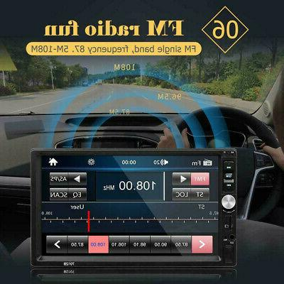 """7"""" Double DIN MP5 Bluetooth Touch Radio + Camera"""