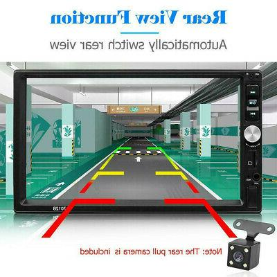"""7"""" inch DIN MP5 Bluetooth Touch Screen Radio +"""