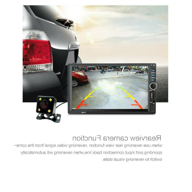 7 Inch 2 DIN Car BT Radio HD+Rear Camera