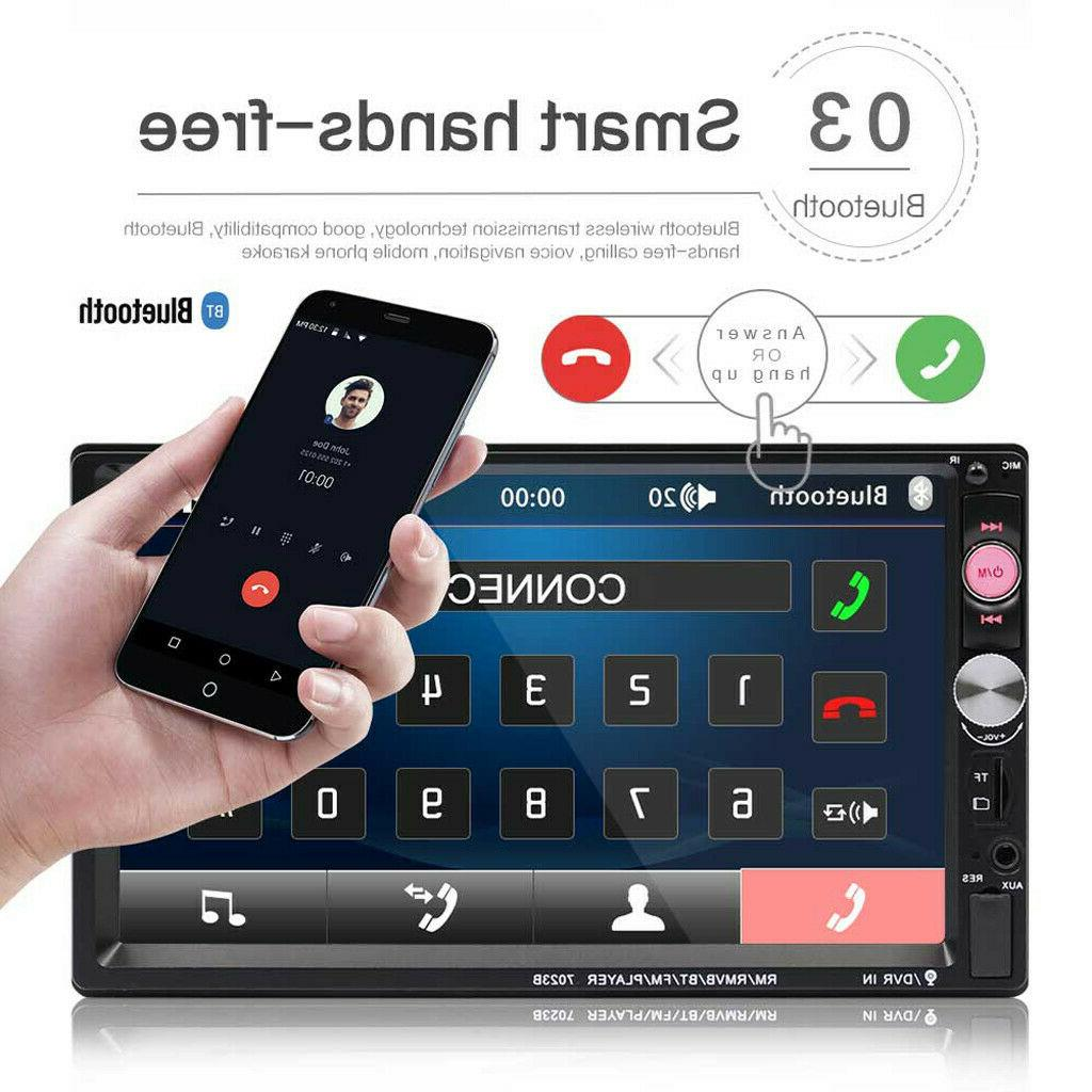 7 Double 7023B 2 DIN Stereo Touch Bluetooth