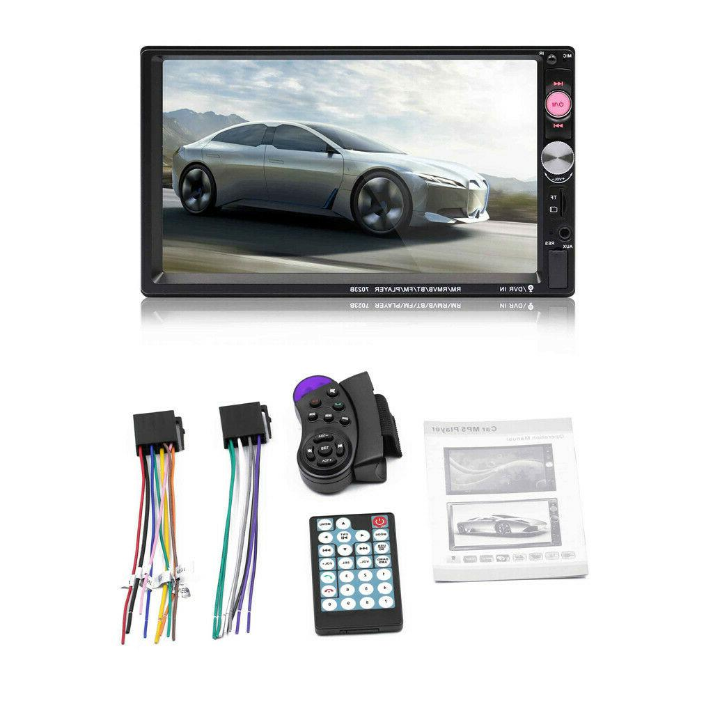 7 Inch Double 7023B 2 Car Stereo Radio MP5 Player TouchScreen Bluetooth